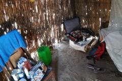So sieht dort ein Schlafzimmer aus, den wir jeweils zu zweit teilten.