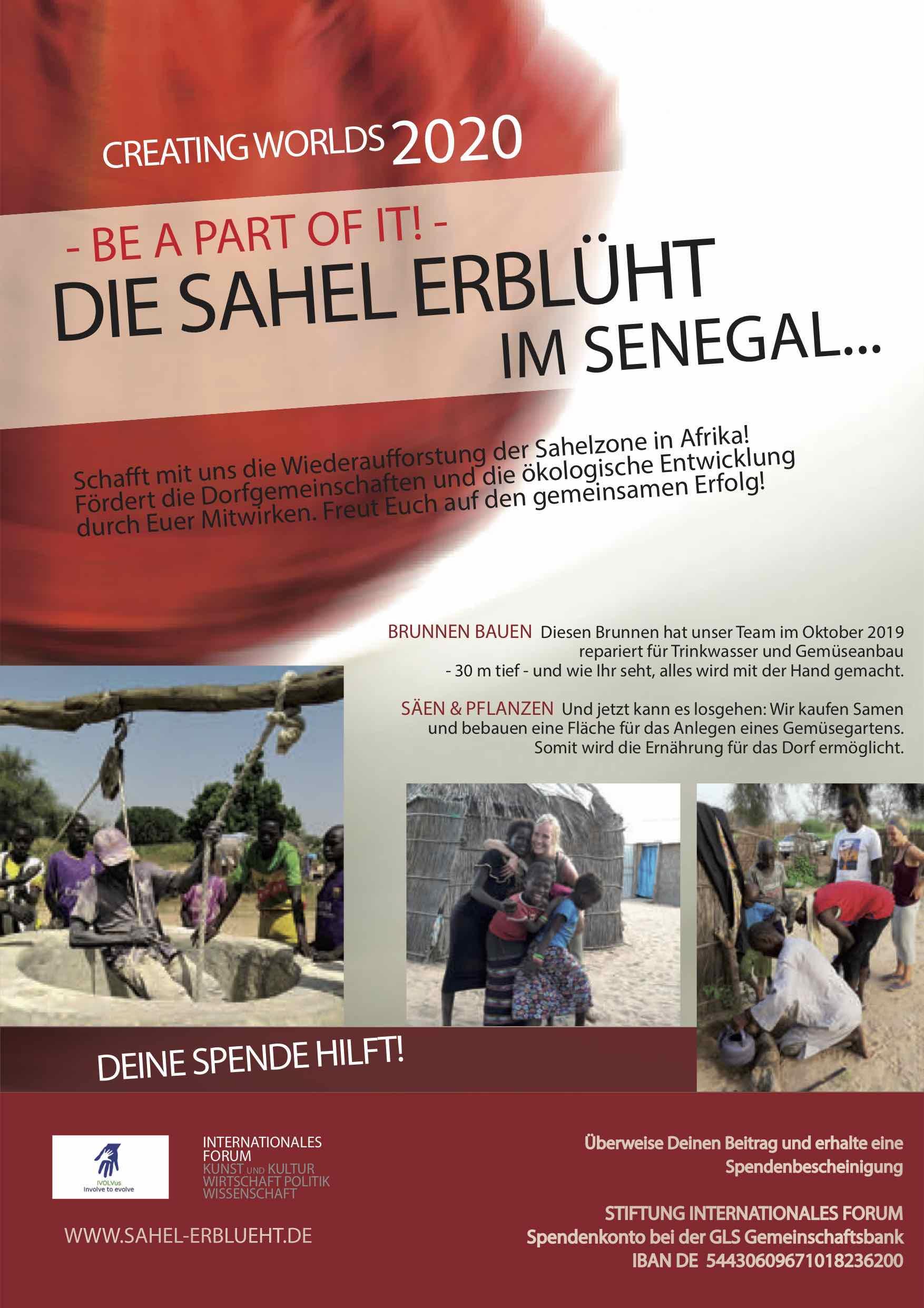 Spende für das Projekt: Die Sahel erblüht